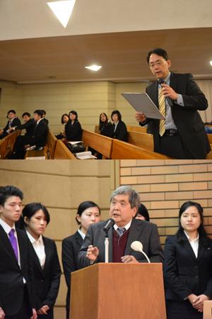 卒業研究報告会開催される