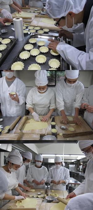 卒業式お茶の会のケーキ作り