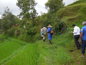 ネパールワークキャンプ現地からの報告:地区営林署の署長が植林地を表敬訪問