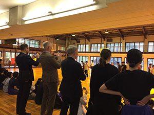 体操会の練習大詰め:デンマークの小中学校長が見学にいらっしゃる