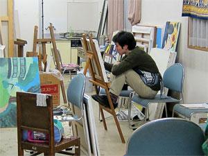 4年生が油絵の作品展を開催します