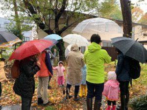 樹木グループが武蔵野友の会の自然観察会をお手伝いする